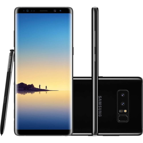 Smartphone Samsung Galaxy Note 8 N950 128GB 6GB RAM 12MP Tela 6.3 Preto